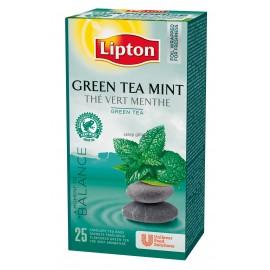 Zaļā tēja LIPTON GREEN MINT, 25 maisiņi kastītē