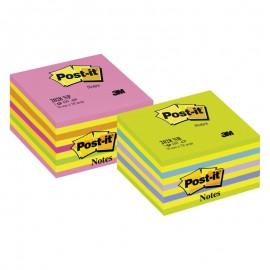 Piezīmju līmlapiņu kubs POST-IT Neon, 76x76mm, dzelt., roza toņos