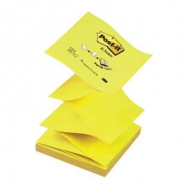 Piezīmju līmlapiņas Z-veida POST-IT 76x76mm, dzeltenas