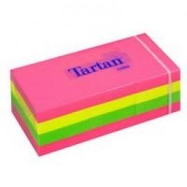 Piezīmju līmlapiņas TARTAN neon 38x51mm, asorti neona krāsas, Iepak. (12 Gab.)