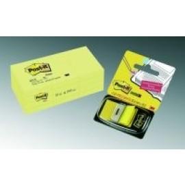 Piezīmju līmlapiņas POST-IT, 38x51mm, dzeltenā krāsā