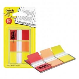 Pašlīpošie indeksi POST-IT 680-ROY sarkanā, oranžā un dzeltenā krāsās