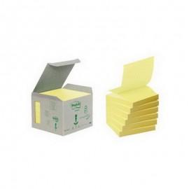 Piezīmju līmlapiņas POST-IT Z-Notes ar izmēru 76x76mm, dzeltenas
