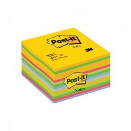 Piezīmju līmlapiņu kubs 3M POST-IT Ultra 76x76mm, asorti krāsas, 450 lpp