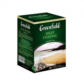 Zaļā tēja GREENFIELD MILKY OOLONG, 20 x 1.8 g maisiņi-piramīdas paciņā