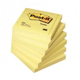 Piezīmju līmlapiņu kubs POST-IT, 76x76mm,450 lapiņas dzeltenā krāsā
