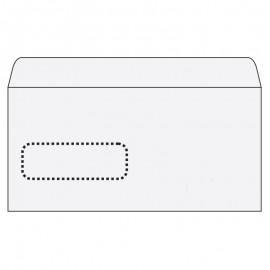 Aploksnes Postfix ar logu E65 RH, 110x220mm, (140650VA), Iepak. (25 Gab.)