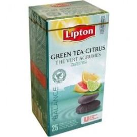 Zaļā tēja LIPTON GREEN CITRUS, 25 maisiņi kastītē