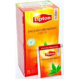 Melnā tēja LIPTON ENGLISH BREAKFAST, 25 maisiņi kastītē