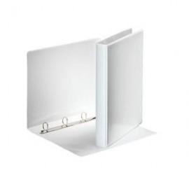 Mape ESSELTE Panorama A4 formāts platums 77 mm, 4D riņķa diam. 50mm, balta