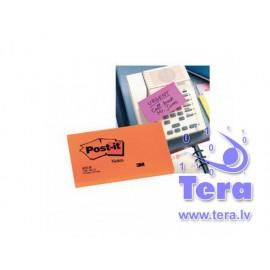 Piezīmju līmlapiņas POST-IT Neon 76x127mm, roza krāsā