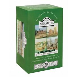 Zaļā tēja AHMAD GREEN SELECTION, 20 maisiņi paciņa