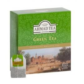 Zaļā tēja AHMAD GREEN, 100 maisiņi paciņā