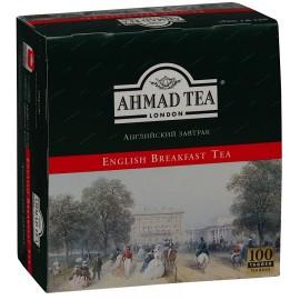 Melnā tēja AHMAD ENGLISH BREAKFAST, 100 maisiņi x 2 g paciņā