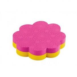 Piezīmju līmlapiņas POST-IT SUPER STICKY Puķes veidā 73,6x71,1mm/72 lapas, ultra dzeltena/rozā krāsa