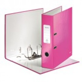 Mape-reģistrs LEITZ WOW 180°, A4, 50mm, rozā