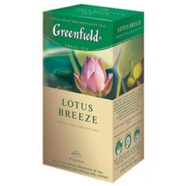 Zaļā tēja GREENFIELD LOTUS BREEZE, 25 maisiņi paciņā