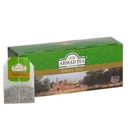 Zaļā tēja AHMAD GREEN, 25 maisiņi paciņā