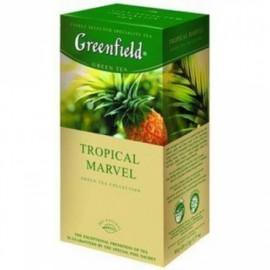 Zaļā tēja GREENFIELD TROPICAL MARVEL, 25 maisiņi paciņā
