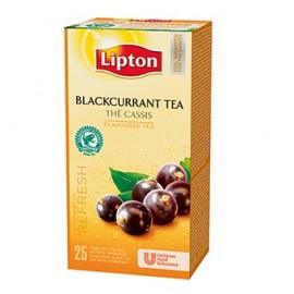 Melnā tēja LIPTON BLACKCURRANT, 25 maisiņi kastītē