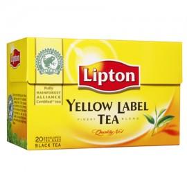 Melnā tēja LIPTON YELLOW LABEL, 25 maisiņi kastītē