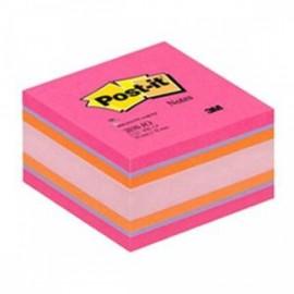 Piezīmju līmlapiņu kubs POST-IT JOYFUL 76x76mm, rozā krāsa toņos