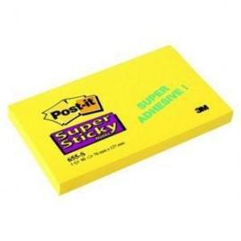 Piezīmju līmlapiņas POST-IT SUPER STICKY 76x127mm, dzeltenas