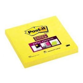 Piezīmju līmlapiņas POST-IT SUPER STICKY 76x76mm, dzeltenas