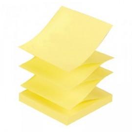 Piezīmju līmlapiņas Z-veida TARTAN 76x76mm, dzeltenas